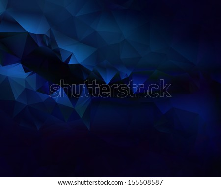 blue dark  triangles  abstract