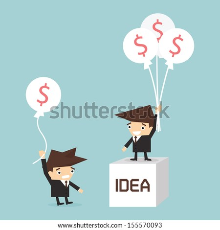 business concept  idea to