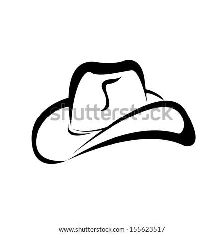 cowboy hat silhouette  vector