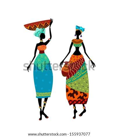 beautiful african woman in