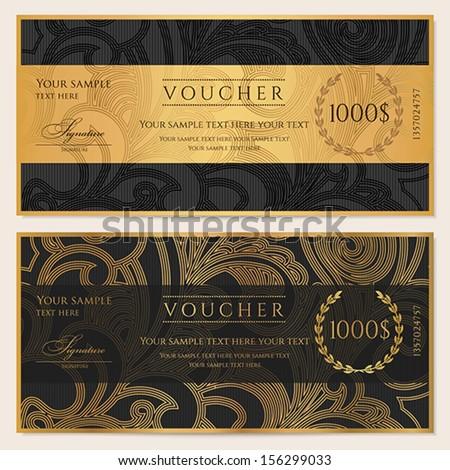 voucher  gift certificate