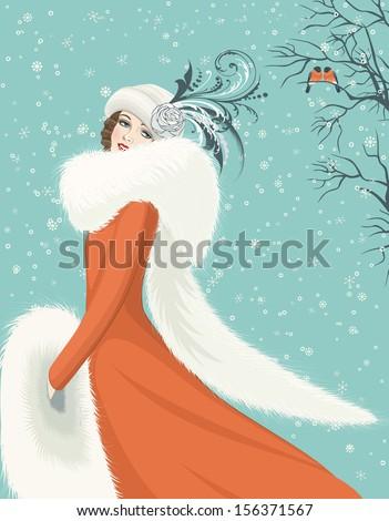 portrait of elegant woman in a