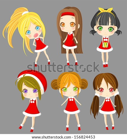 cute sprite santa girls set