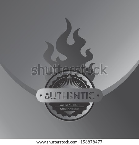 authentic steel fire label theme