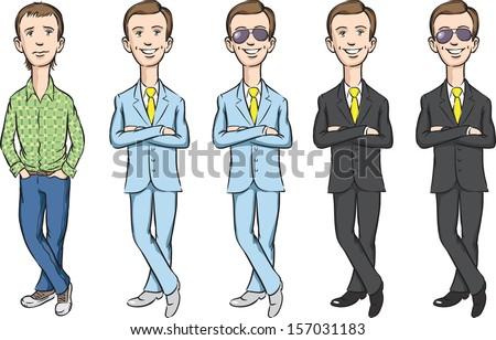 vector illustration of dude