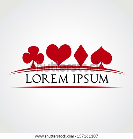 suits of cards icons vector