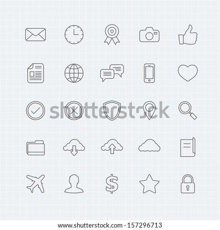 generic vector thin line symbol