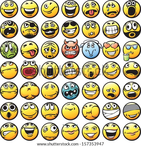 vector collection of happy