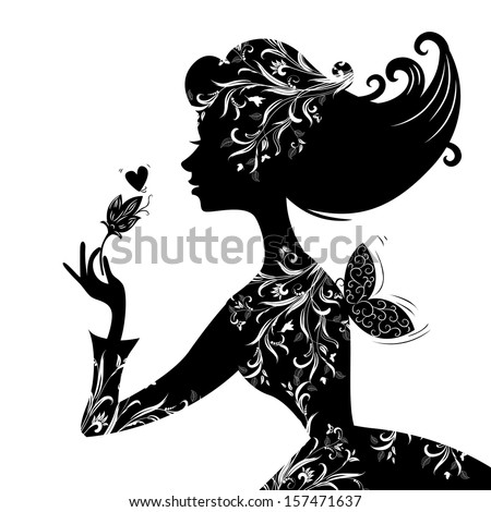 silhouette of a beautiful