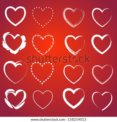 heart icons set infinite love