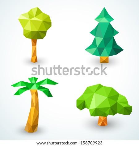 set of polygonal origami tree