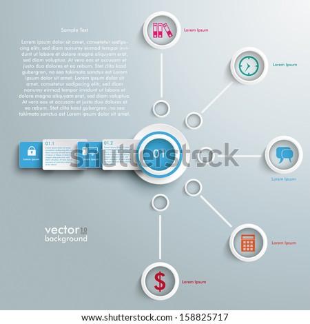 infographic design white