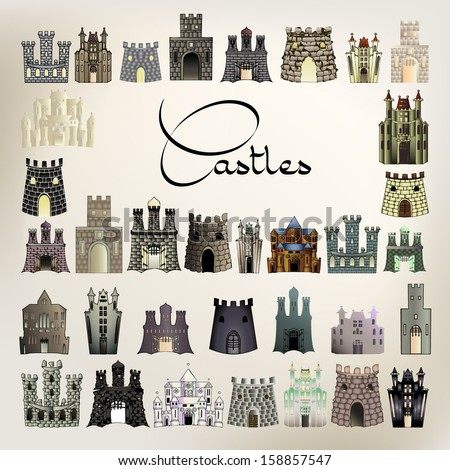 colored castles
