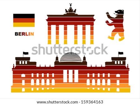 vector graphic symbols of berlin
