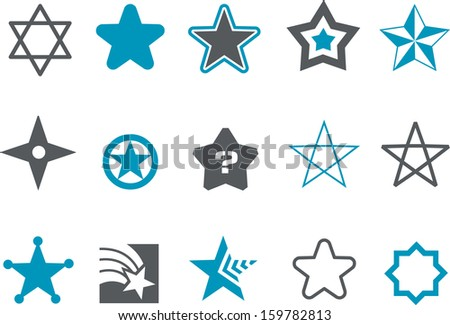 vector icons pack   blue series
