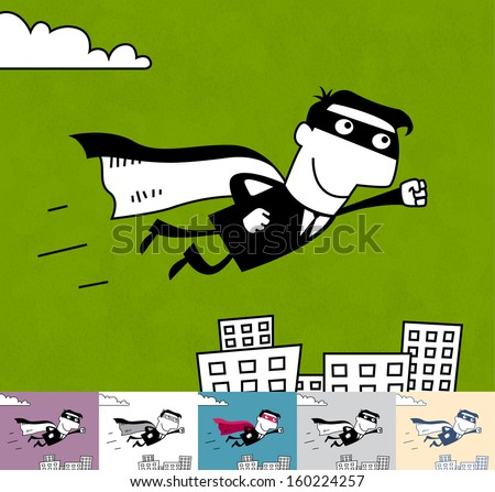 superhero business cartoon