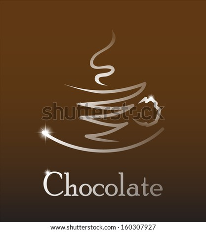 cup of hot chocolate vector