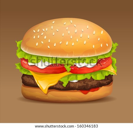 hamburger icon with meat