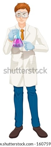 illustration of a chemist on a