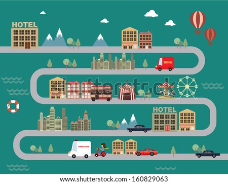 city town cityscape vector