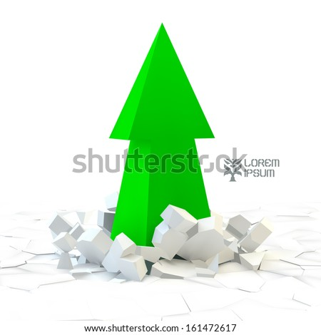 3d arrow vector illustration
