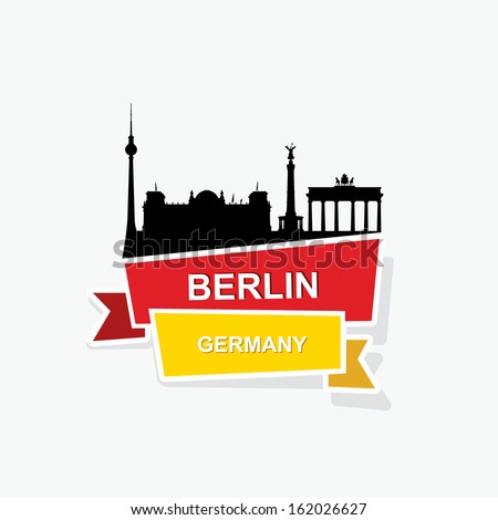 berlin ribbon banner   vector