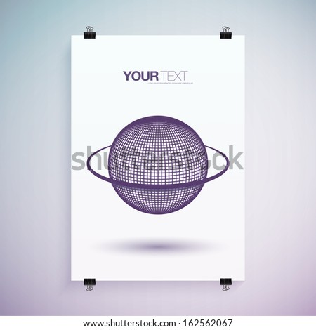 abstract 3d purple planet with