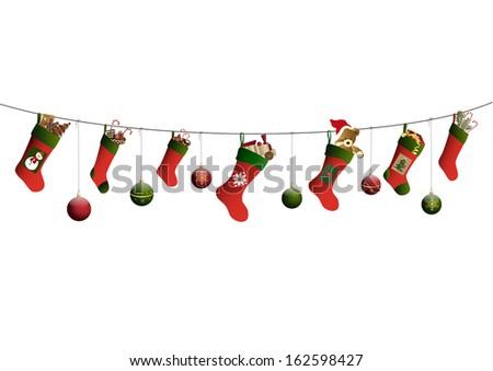 christmas stockings and