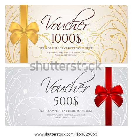 Gift voucher template vector free vector download 14811 Free – Voucher Card Template