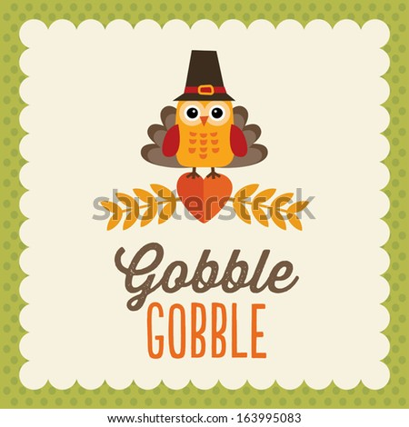 retro thanksgiving day card