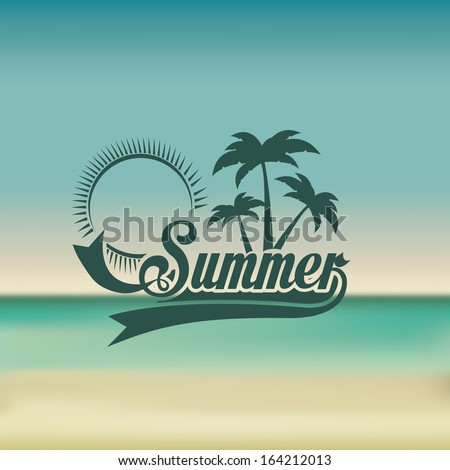 summer design over  blue