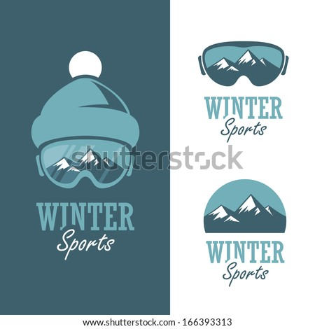 three badges for winter sports