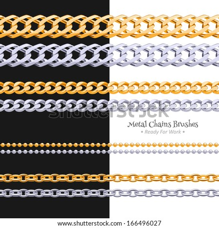set of different chains metal