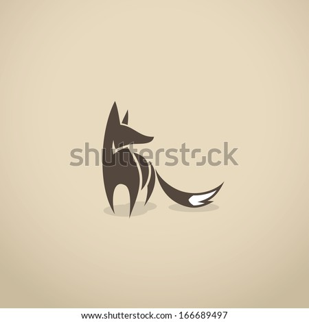 fox icon   vector illustration