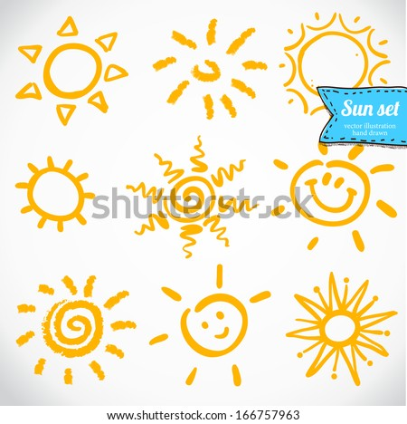 vector set of different suns