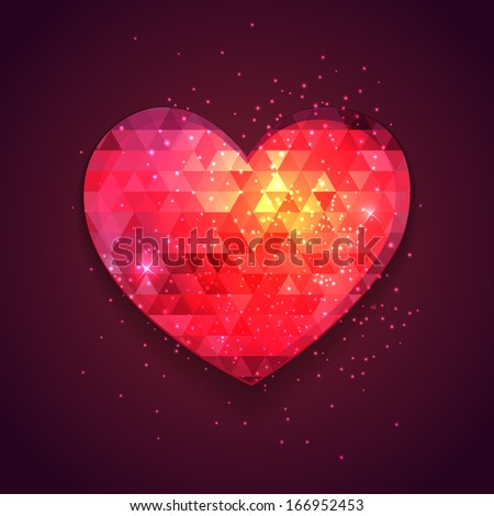 abstract triangle romantic
