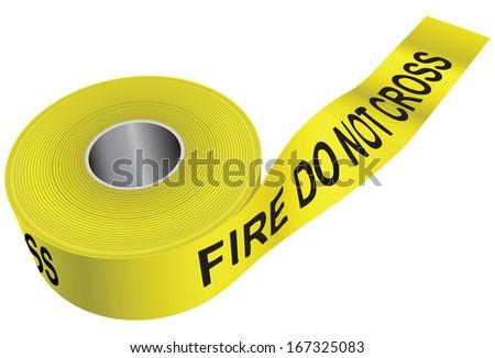 yellow warning tape   do not