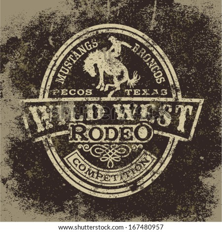 wild west rodeo  vintage vector
