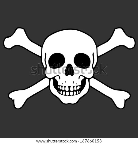 vector illustration with skull