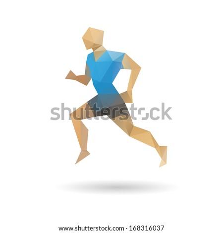 sports man running abstract