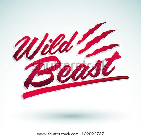 wild beast   vector lettering