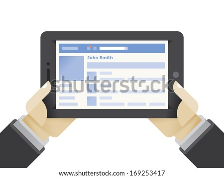 tablet computer with social