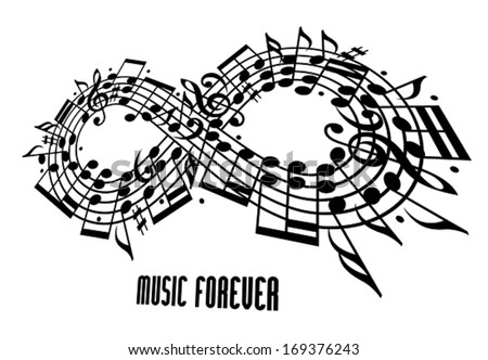 forever music concept  infinity