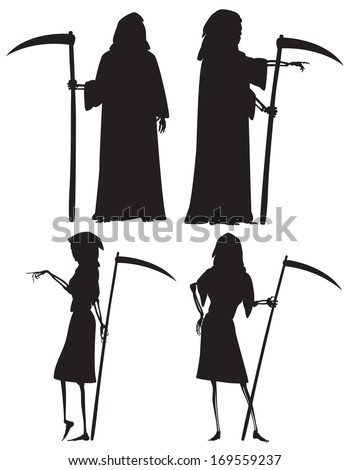 vector silhouettes of the grim