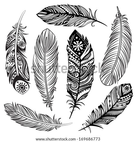 stock-vector-set-of-ethnic-feathers
