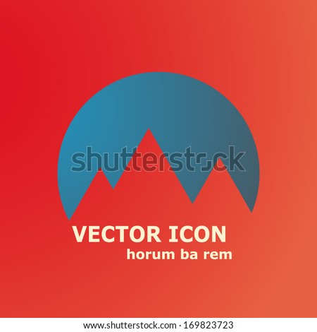 mountains symbol vector eps10