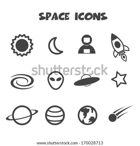 space icon  mono vector symbols