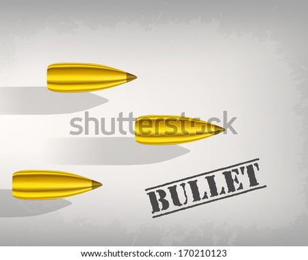 bullet background concept