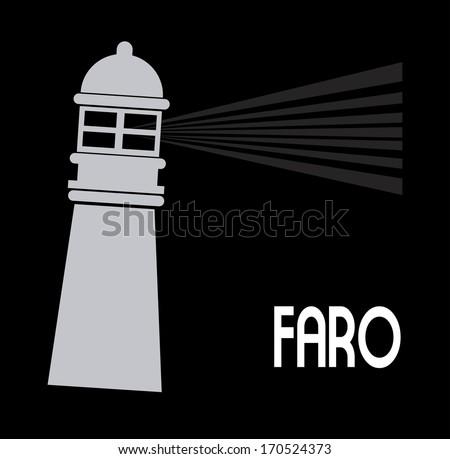 lighthouse design over black