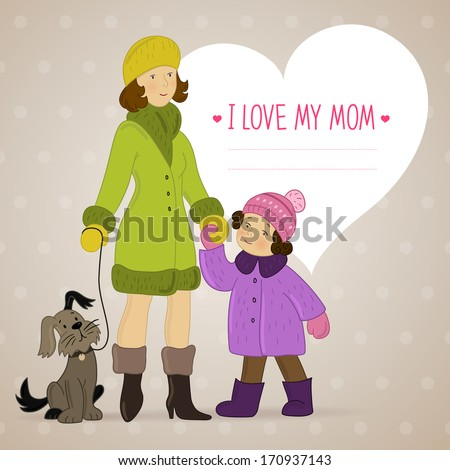 vector background with mother